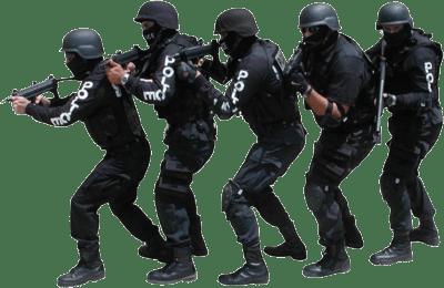 Swat Team transparent PNG.