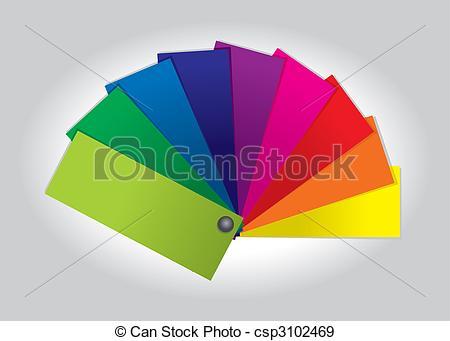 EPS Vectors of Color Swatch (vector).