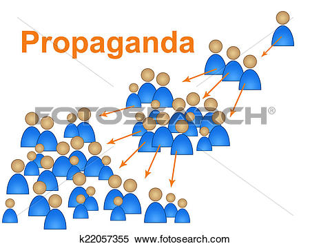 Stock Illustration of Propaganda Influence Means Sway.