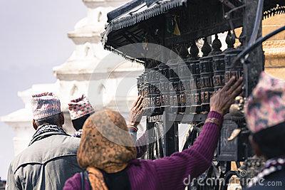 Swayambhu Stupa,kathmandu,nepal Stock Photo.