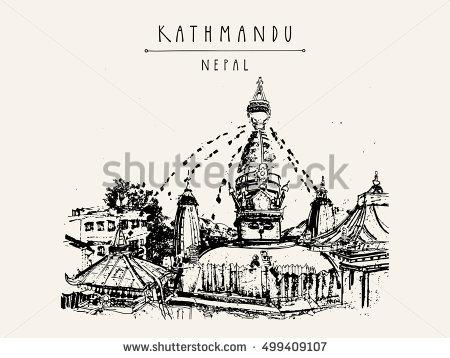 Swayambhu Stock Photos, Royalty.