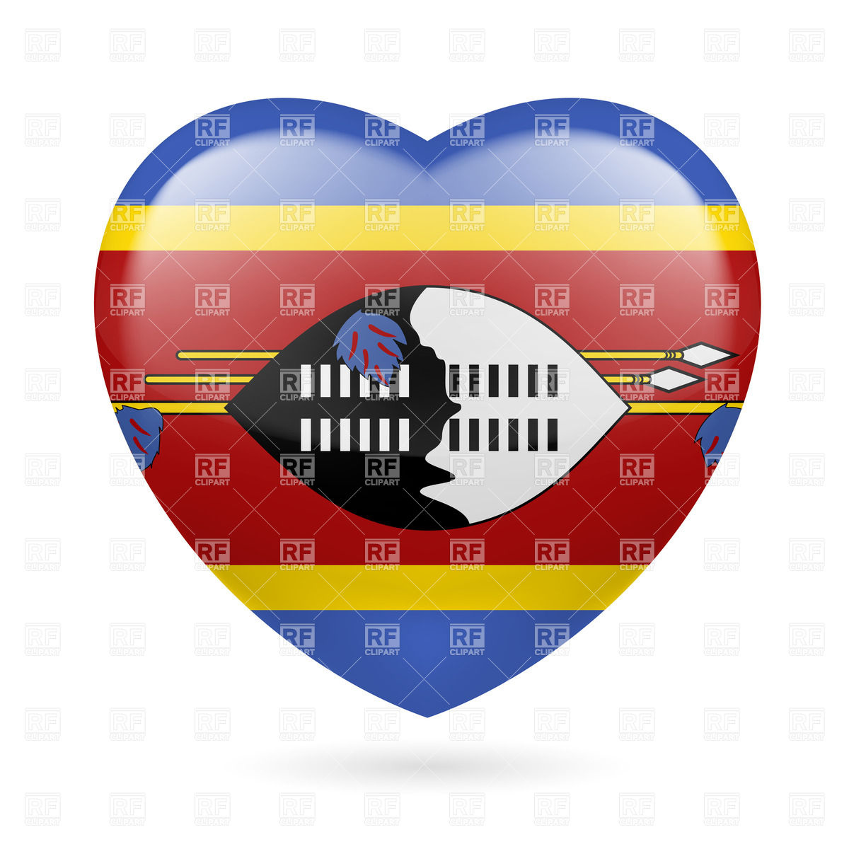 Heart with flag.