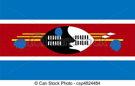 EPS Vector of Swaziland flag csp4824484.