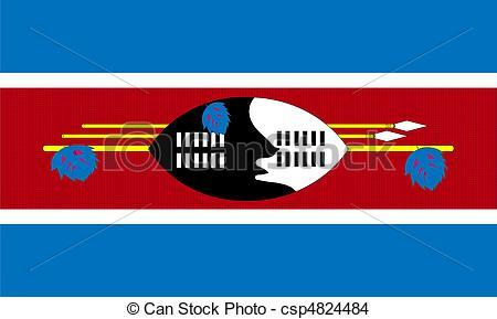 EPS Vector of Swaziland flag csp4824484.