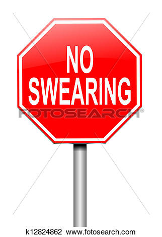 Clip Art of No swearing sign. k12824862.
