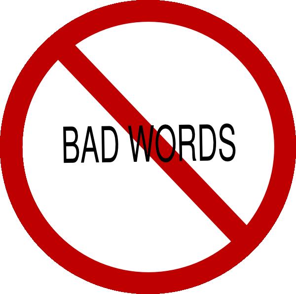 No Swearing Clipart.