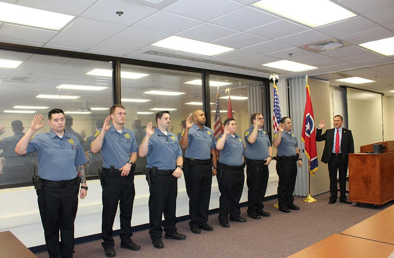 Montgomery Co. Sheriff\'s Office swears in seven new deputies.