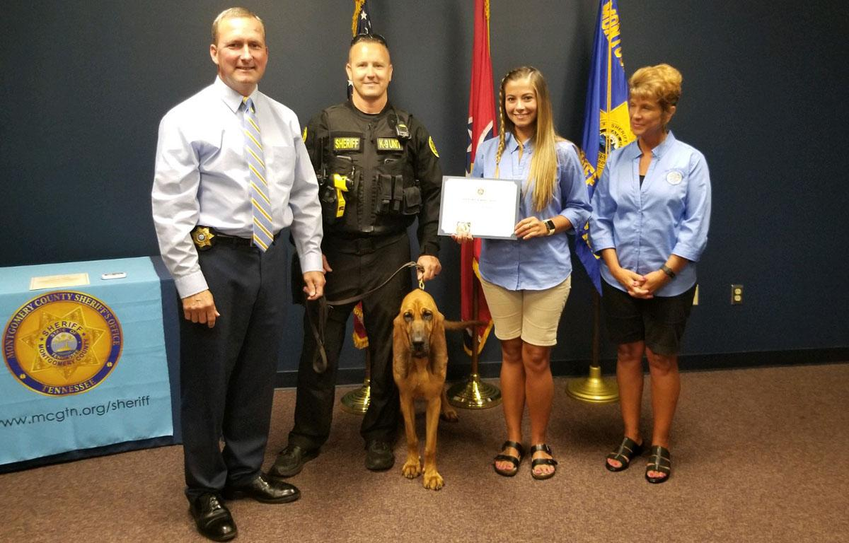 Welcome Roscoe, newest deputy of the Montgomery County.