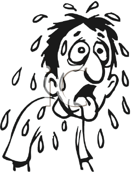 Royalty Free Clipart Image of a Sweating Man #281275.
