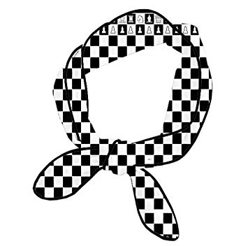 Amazon.com : Women Black And White Squares Chess Headbands.
