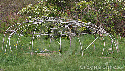 Sweat Lodge Frame Royalty Free Stock Photos.