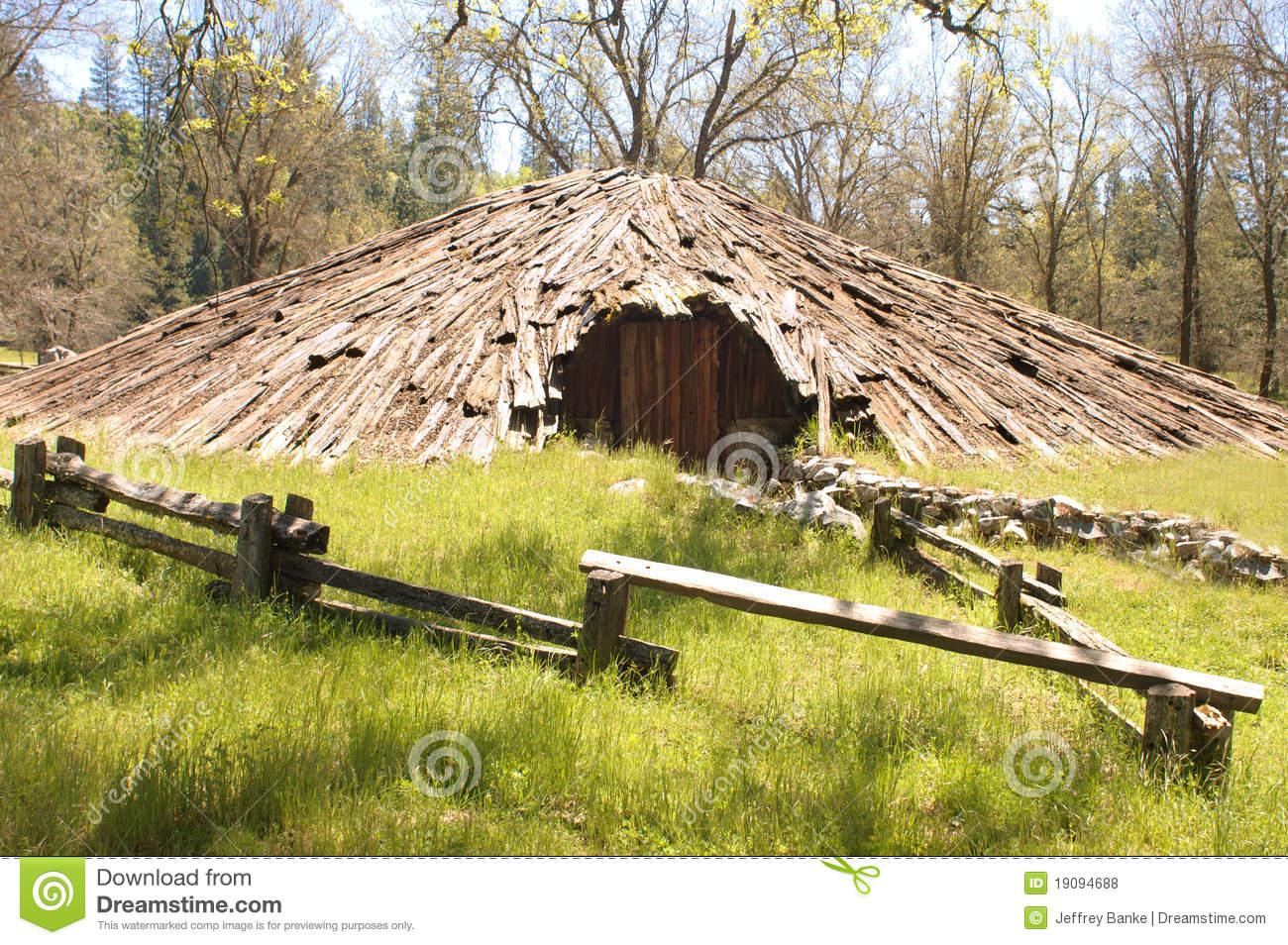 Miwok Indian Sweat Lodge Royalty Free Stock Photos.