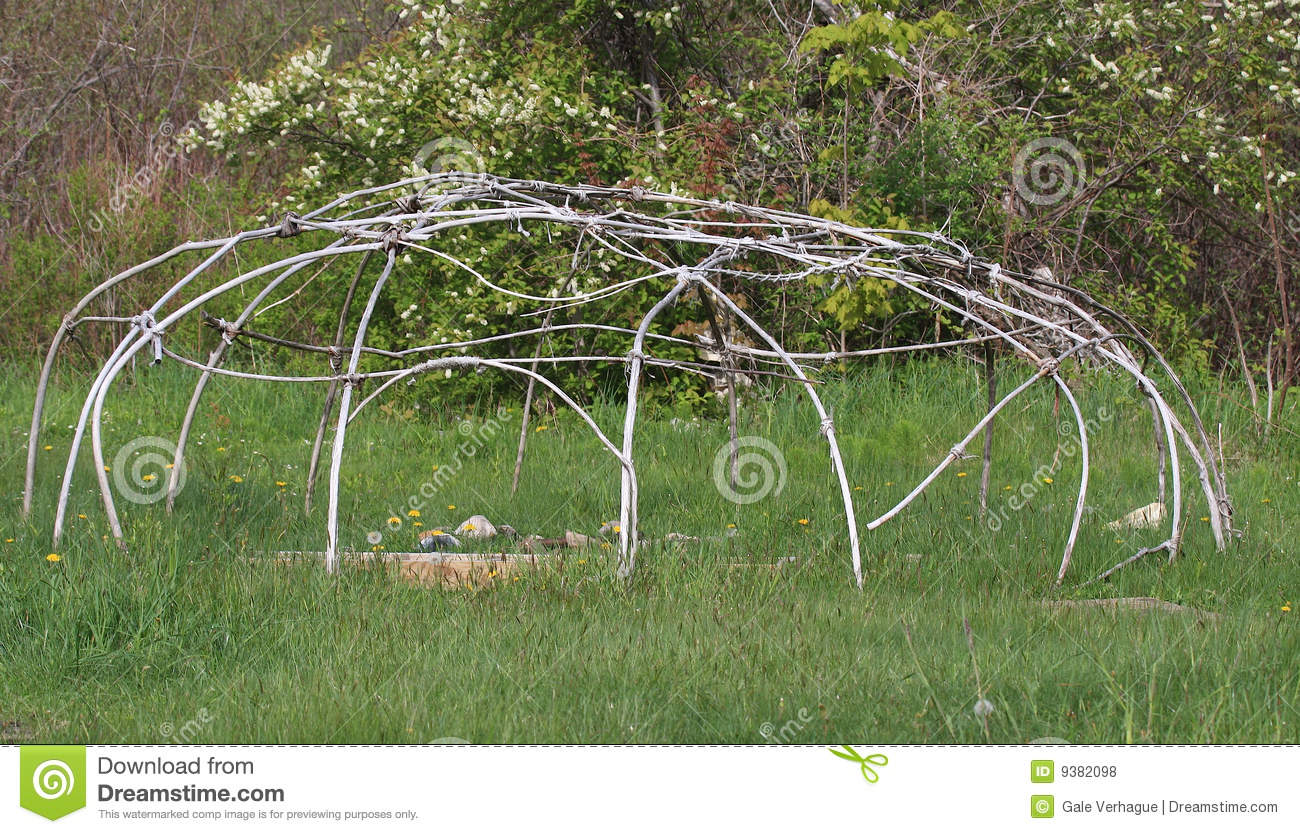 Sweat Lodge And Teepee Royalty Free Stock Photo.
