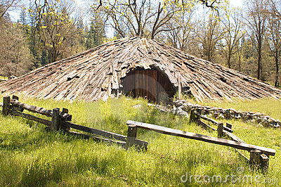 Sweat Lodge And Teepee Royalty Free Stock Photo.
