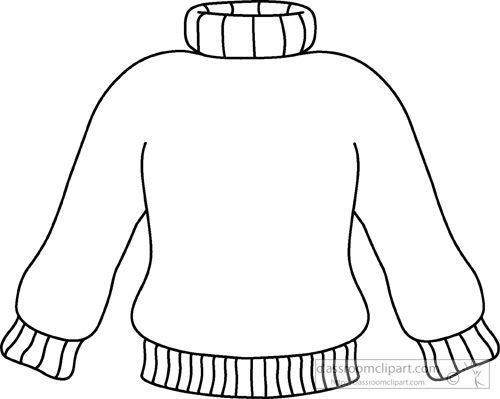 Sweater clipart black and white 1 » Clipart Portal.