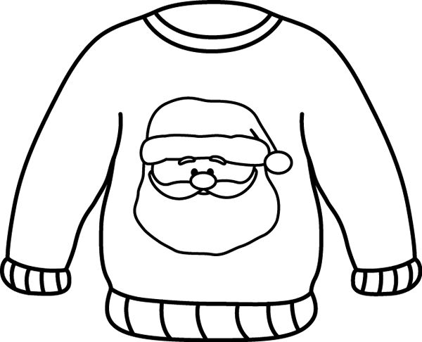Free Santa Sweater clip art from mycutegraphics.com.