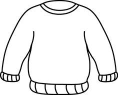 Black and White Ugly Sweater Clipart.