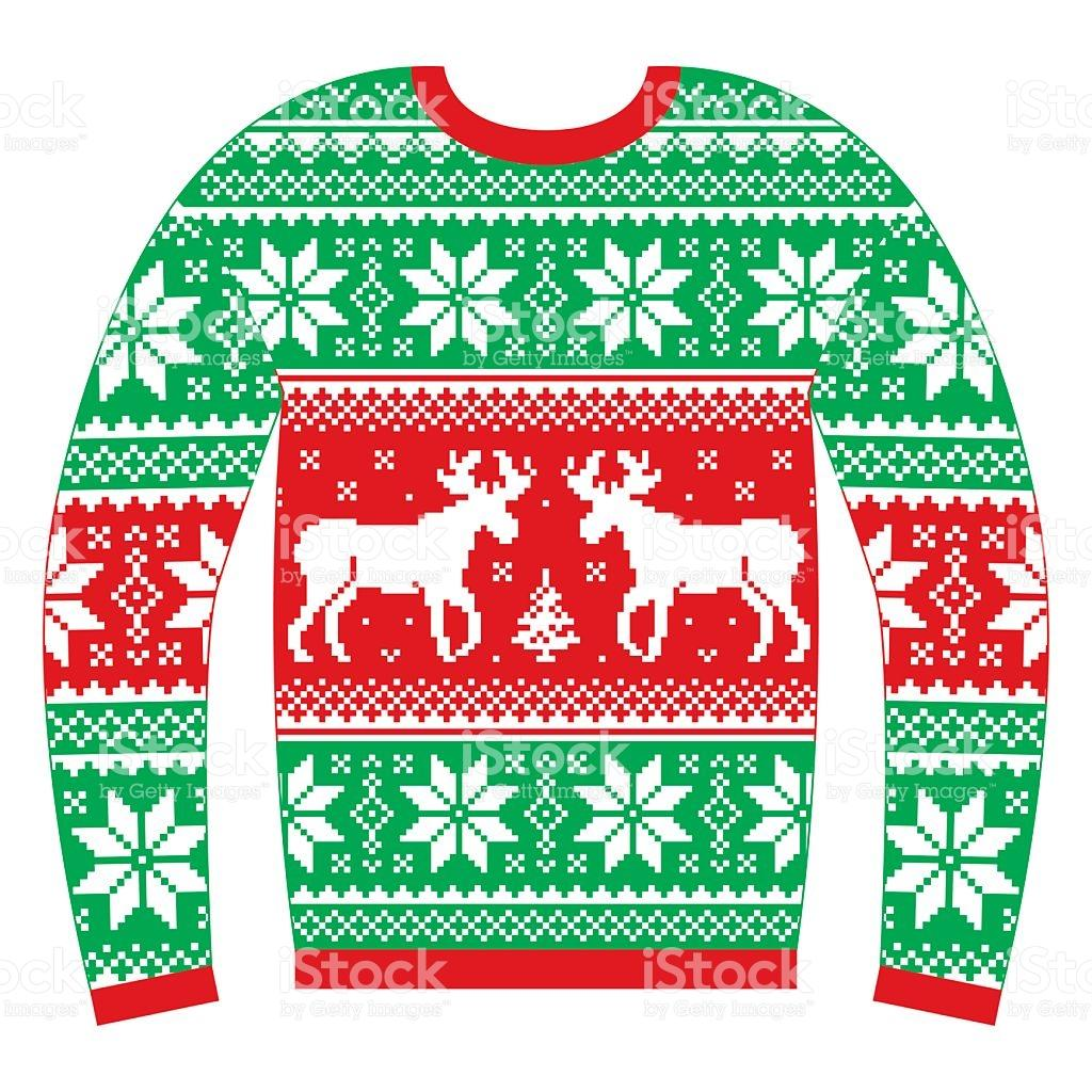 Ugly Christmas Sweater Clipart Transparent Background.