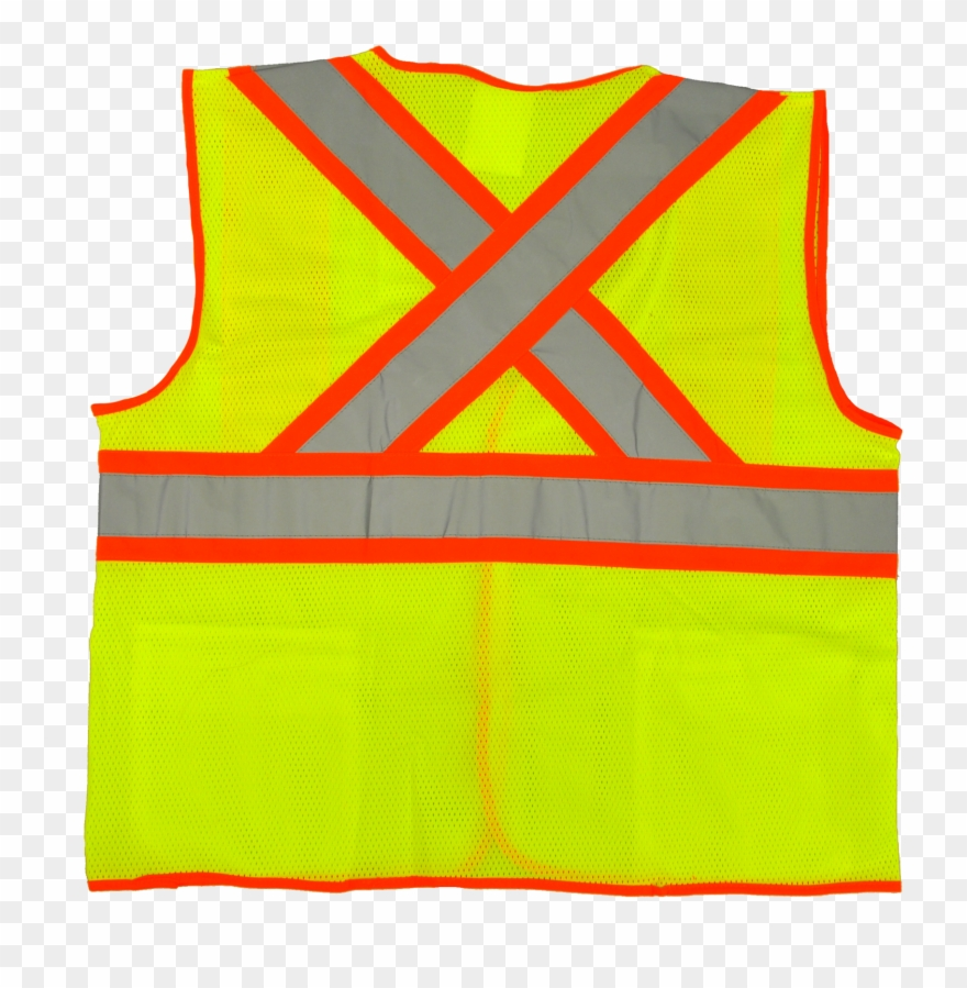 Deluxe High Visibility Fluorescent Safety Vest.
