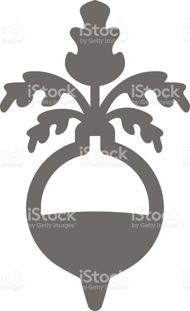 Rutabaga Or Swede Outline Icon Vegetable Root stock vector art.