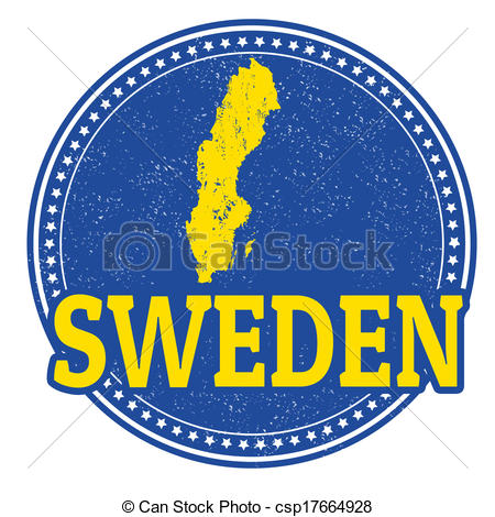 Vector Illustration of Sweden stamp.