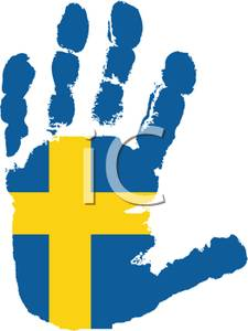 of Sweden Handprint.