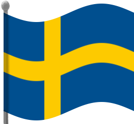 Flag of sweden clipart.