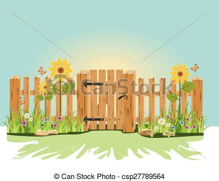 Clipart Vector of Garden gate.