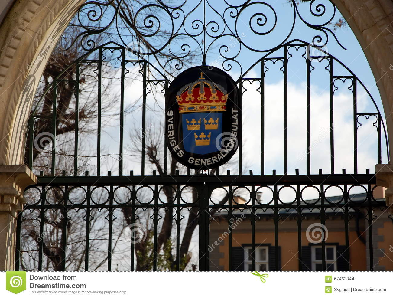Consulate Of Sweden Stock Photo.