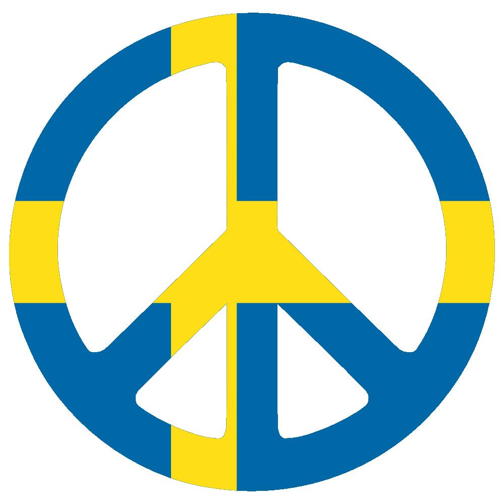 Sweden Peace Symbol Flag 3 Cnd Logo peacesymbol Scalable.