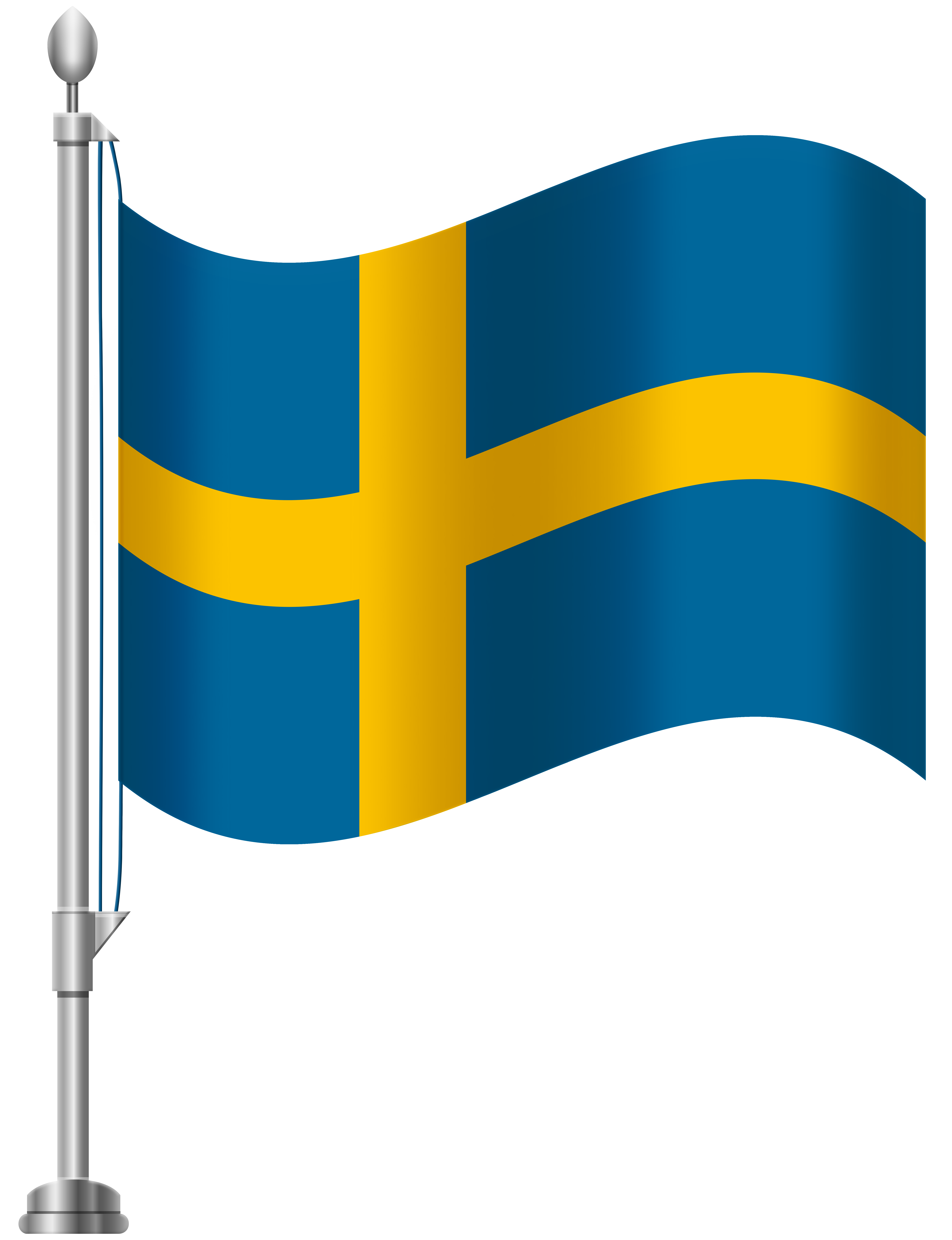 Sweden Flag PNG Clip Art.