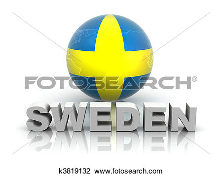 Clip Art of Symbol of Sweden k3819132.