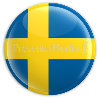Badge of the Flag of Sweden.