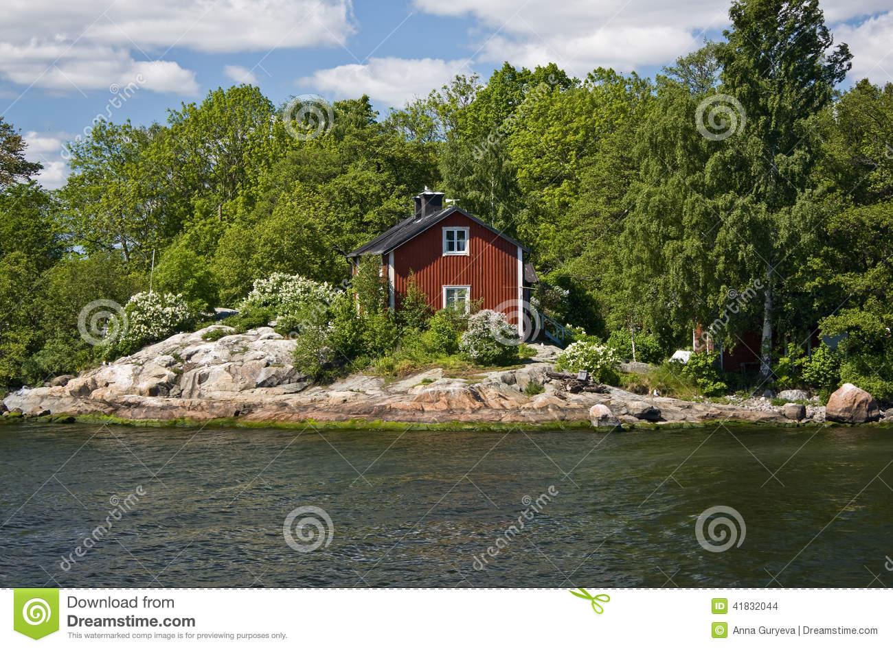 Stockholm Archipelago, Summer House (2) Stock Photo.