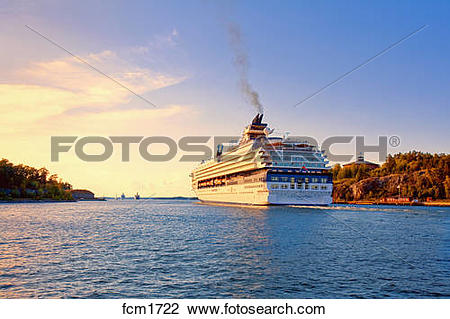 Stock Photo of SWEDEN STOCKHOLM ARCHIPELAGO. FERRIES FROM.