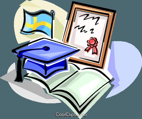 Swedish graduation hat Royalty Free Vector Clip Art illustration.