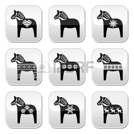 120 Swedish Horse Stock Vector Illustration And Royalty Free.
