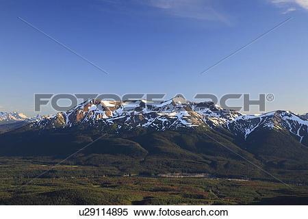 Stock Image of Kasalka Range mountains viewed from Sweeney.