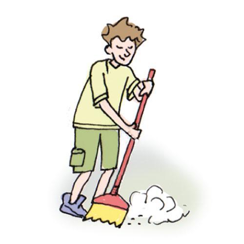 Clipart sweep the floor.