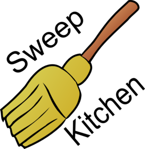Chore: Sweep Kitchen Clip Art at Clker.com.