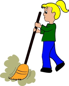 Sweeping Clipart.