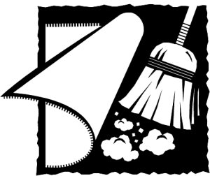 Sweep Under Table Clipart.