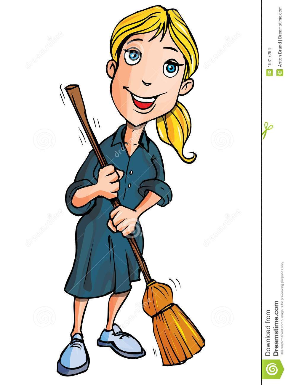Cartoon Handyman With Tools Stock Images.