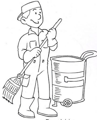 Sweeper clipart black and white 3 » Clipart Station.