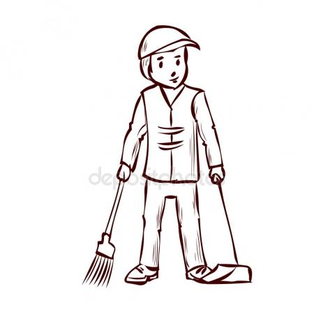 Sweeper clipart black and white 9 » Clipart Station.