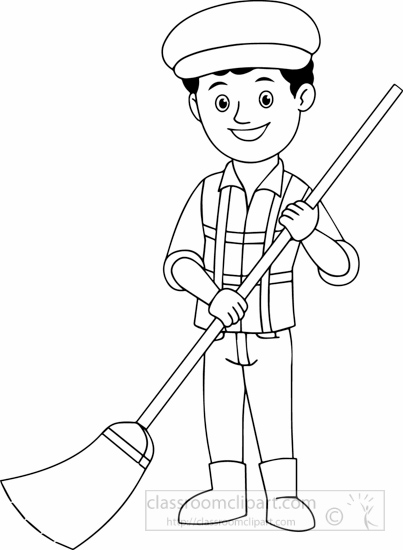Street Sweeper Clipart Black And White.