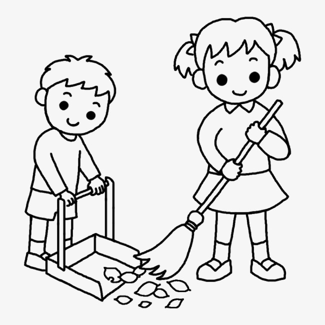 Sweeping clipart black and white clipart images gallery for.