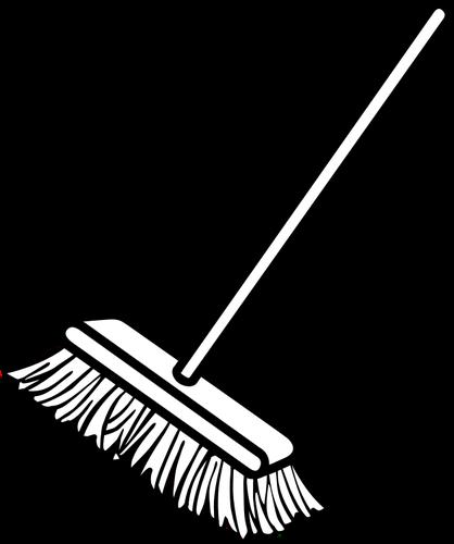 Vector clip art of simple broom.