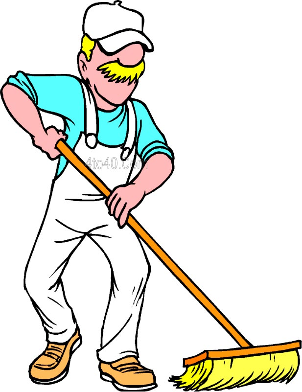 Janitor Clipart.