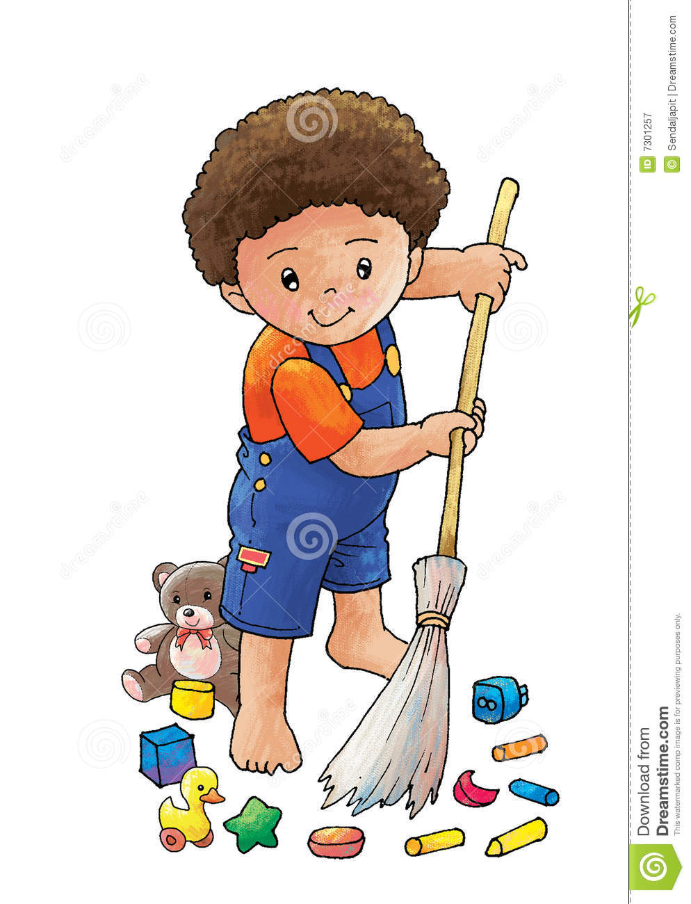 Clipart kids sweep.